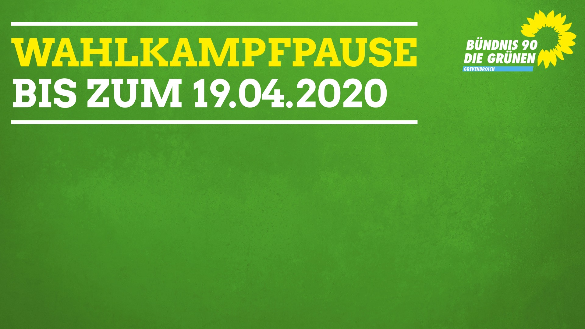 Fraktionen, Parteien und Wählergemeinschaften der Stadt Grevenbroich vereinbaren Wahlkampfpause bis zum 19.04.2020 (Ende der Osterferien)