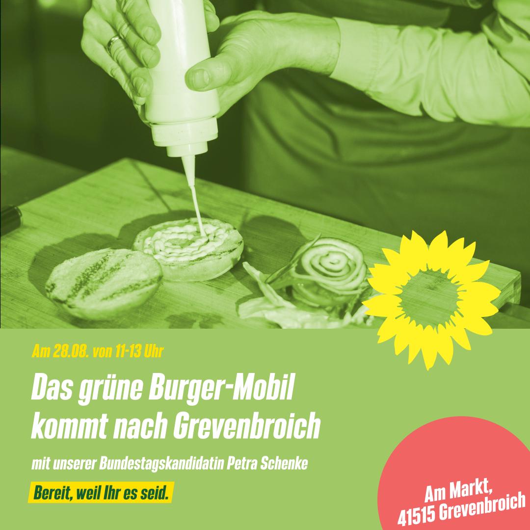 Grünes Burgermobil macht Station in Grevenbroich